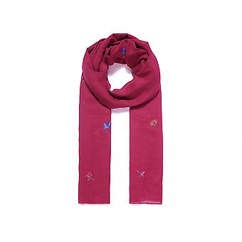 Intrigue Womens/Ladies Embroidered Carnation Scarf