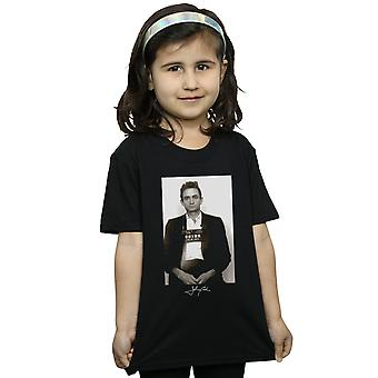 Johnny Cash Girls Police Photo T-Shirt