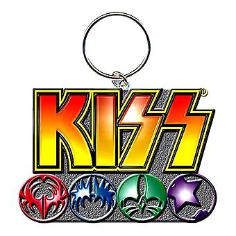 KISS Logo Metal Keyring
