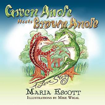 Green Anole Meets Brown Anole - a Love Story by Maria Escott - Mike W