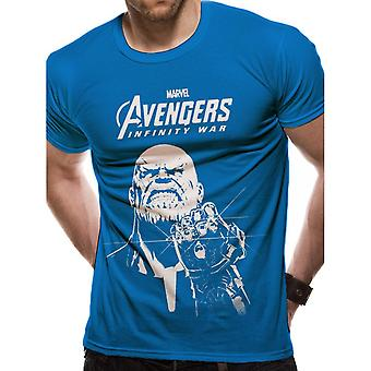 Avengers Unisex dospelí Thanos Design T-shirt