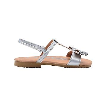 bebe Toddler Girls Fashion Sandals Bebe Toddler Summer Flats With Glitter Bow