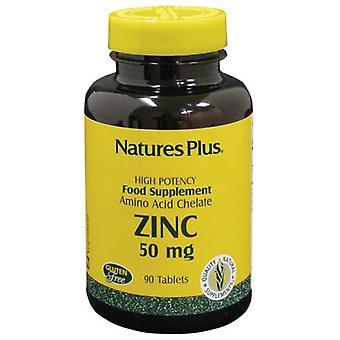 Nature's Plus Zinc 50mg Tablets 90 (3645)
