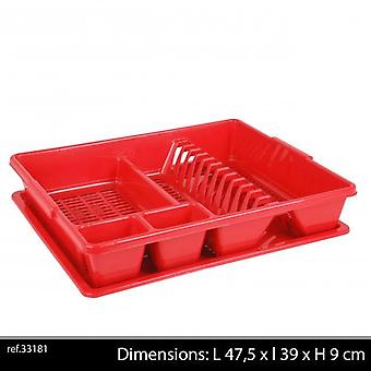 Plastikschale Abtropffläche rot 38 x 48 H9 Cm