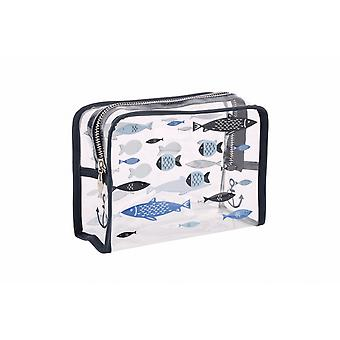 Finest Catch Clear Fish Design Wash Bag