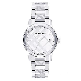 Burberry Bu9037 Unisex Stainless Steel White Dial Watch