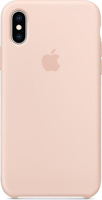 Original Packaging MTF82ZM/A Apple Silicone Microfiber Cover Case for iPhone XS - pink sand