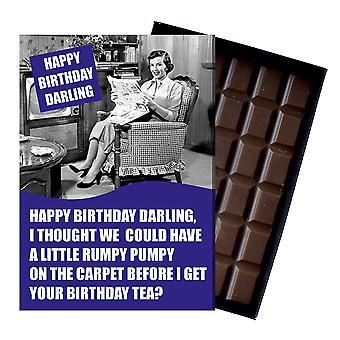 Regalo de cumpleaños divertido para los hombres en caja tarjeta de felicitación de chocolate presente para él CDL212