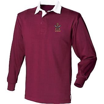 Queens Gurkha Engineers Veteran - Licensed British Army Embroidered Long Sleeve Rugby Shirt