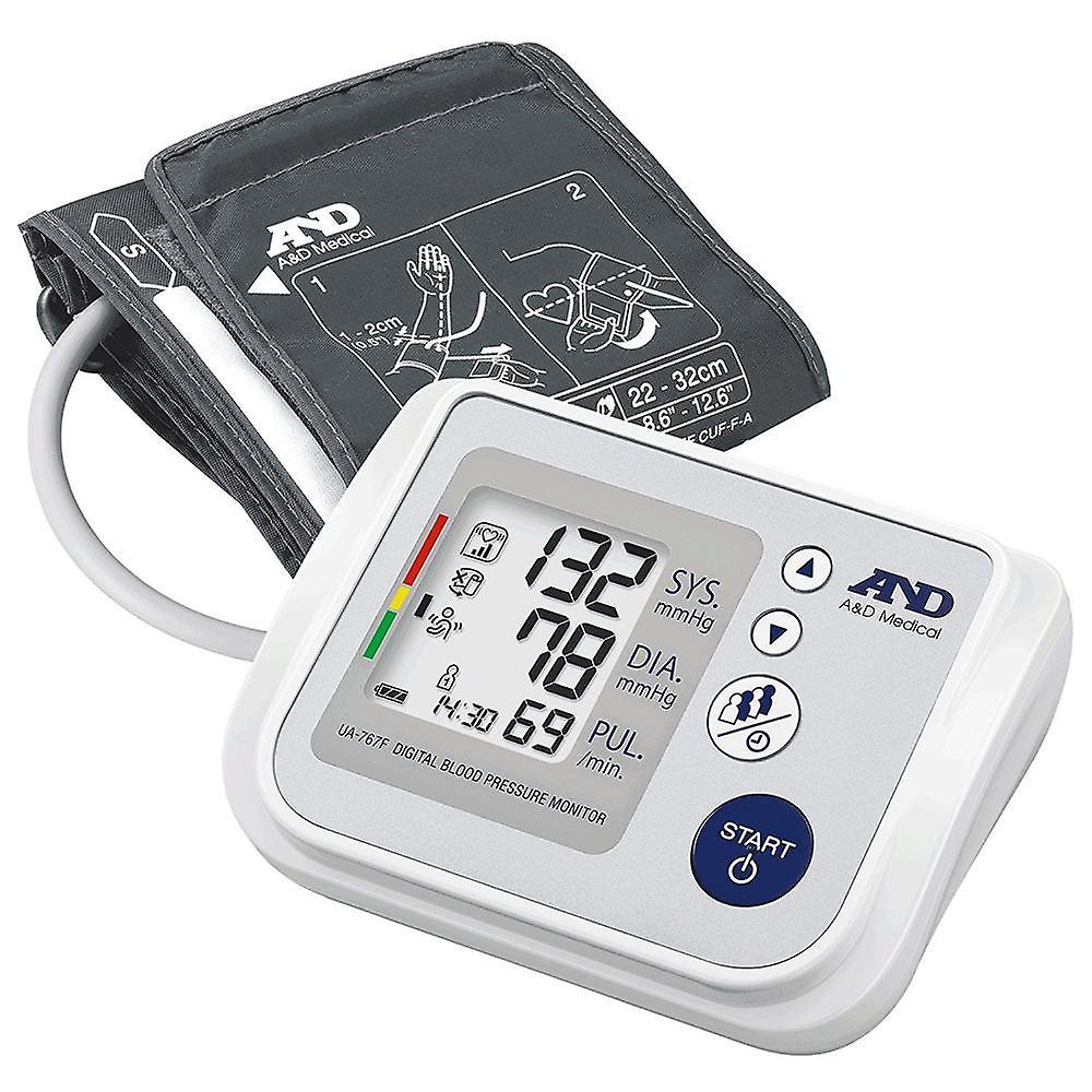 A&D UA767F Oberarm Blutdruckmessgerät IBH Erkennung & 60 Lesespeicher
