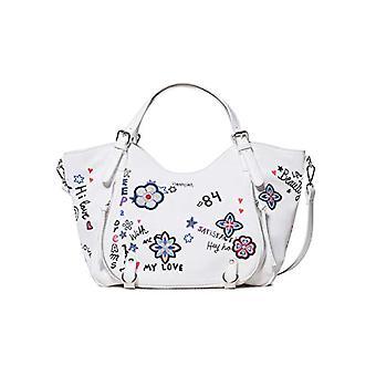 Desigual Bag Shibuya Rotterdam Women - White Donna Shoulder Bags (Blanco) 15x30x31 cm (B x H T)