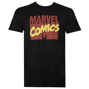 Marvel Comics Logo Coal Men's T-Shirt
