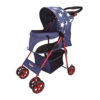 Ibiyaya Pop Art Pet Stroller Comfy Compact Folding Dog Buggy - Starlit Captain