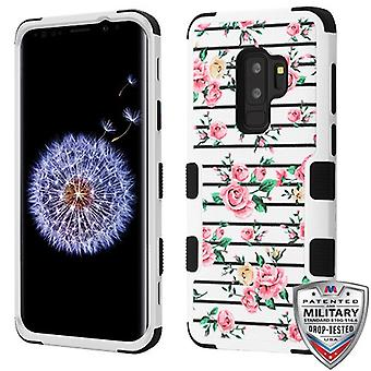 MYBAT Pink Fresh Roses/Black TUFF Hybrid Phone Protector Cover pour Galaxy S9 Plus