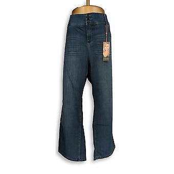 Laurie Felt Women's Petite Jeans 3XP Curve Silky Denim Boot Cut Blue A346629