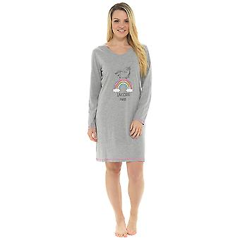Ladies Unicorn Print Nightdress Nighty Sleepwear