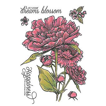 Crafter's Companion A6 Rubber Stamp - Blossoming Bouquet