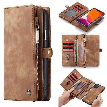 CASEME iPhone 11 Pro Max Retro Split leather wallet Case-brown