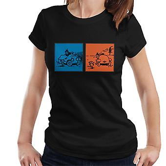 Krazy Kat Blue Orange Panel Women's T-Shirt