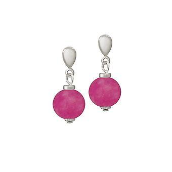 Evig samling Hacienda Flamingo Pink Jade slipp klipp på øredobber