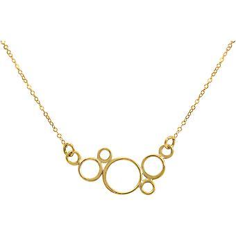 GEMSHINE halsband CHAMPAGNE BUBBLES 925 silver, guldpläterad eller ros