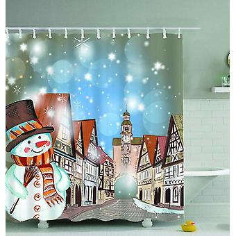 Old Town Christmas Spirit Shower Curtain