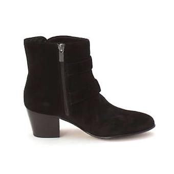 Clarks mulheres couro fechado Toe tornozelo moda botas