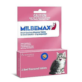 Milbemax Wormer Cats Under 2kg (4.4lbs) - 2 Tablets