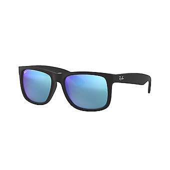 Lunettes de soleil Ray-Ban Justin RB4165 622/55 Black Rubber/Green Mirror Blue