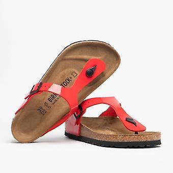 Birkenstock Gizeh 1014310 (reg) Ladies Birko-flor Toe Post Sandals Cherry