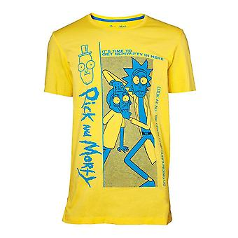 Rick And Morty Crazy Crap T-Shirt Male Large - Yellow (TS025350RMT-L)