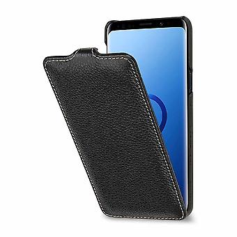 Etui Pour Samsung Galaxy S9 Ultraslim Noir En Cuir Véritable