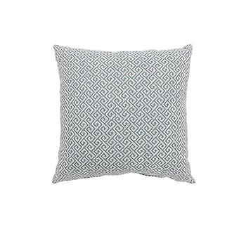 Contemporary Style Small Diagonal Patterned Set of 2 Throw Pillows, Blue