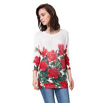 Desigual Kvinnor & apos; blommig santorini tröja