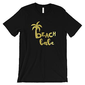 Beach Babe Palm Tree-GOLD Mens Black T-Shirt Grateful Suportive