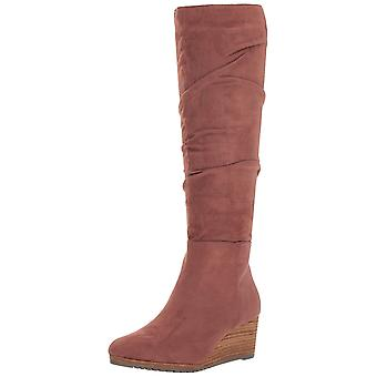 Dr. Scholl's Womens Central Suede Round Toe Knee High Fashion Boots