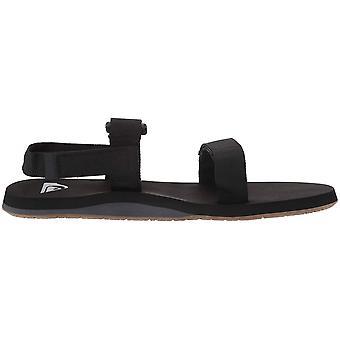 Quiksilver Men's Monkey Caged Sandal, Black/Grey/Brown, Size 14.0
