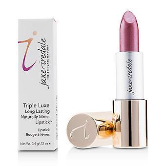 Jane Iredale Triple Luxe pitkäkestoinen luonnostaan kostea huuli puna-# Rose (vaalea Merlot)-3,4 g/0,12 oz
