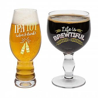 Bigmouth - beer snob glass set