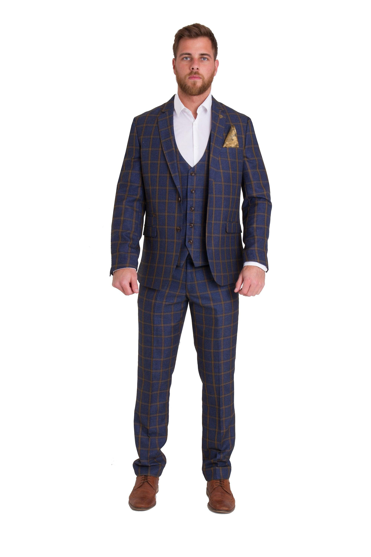 Marc Darcy Roman Tweed Trousers