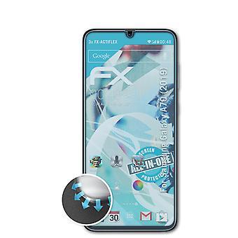 atFoliX 3x Protective Film compatível com Samsung Galaxy A70 (2019) Protetor de tela clear&flexível