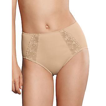 Rosa Faia 1341-753 Women's Grazia Desert Nude Embroidered Full Panty Highwaist Brief