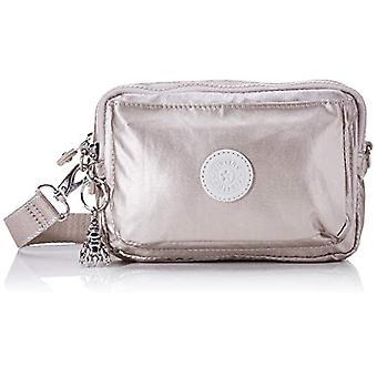 KiplingAbanu Multi Woman Silver Shoulder Bag (Metallic Glow)19x13x8 Centimeters (B x H x T)