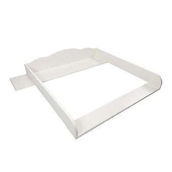 Wrap attachment Thore with aperture, white, for IKEA Hemnes