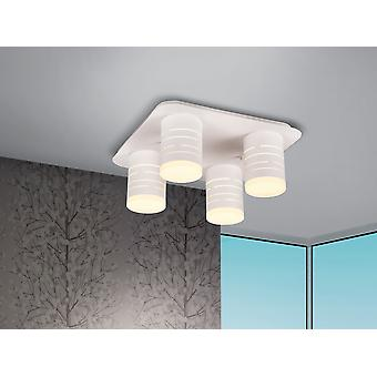 Schuller Vika - LED ceiling lamp, made of metal, finished in sanded matt white. Opal acrylic diffuser. 33.6W LED, 3200 lm, 3000 K. - 847492