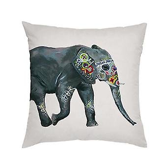 Gardenista Koristeellinen puutarhatyynynpäällinen 45x45 cm| Vedenpitävä ulkouima tyynynpäälliset | Pehmeä vesi - kestävä kangas kestävyys | Intian Elephant Collection puutarhat (Design B)