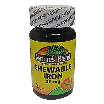 Nature's blend chewable iron, 30 mg, tablets, 60 ea