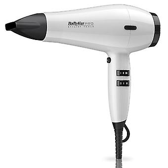 Babyliss Pro Spectrum Dryer 2100W Salon Hair Styling Secador - White Frost