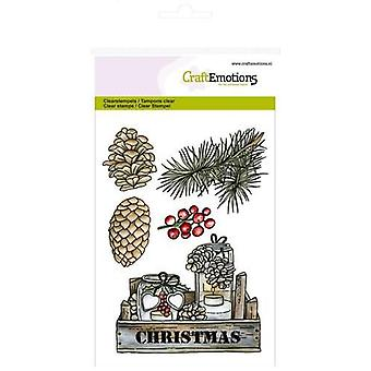 CraftEmotions Clear Postzegels A6 - krat decoraties Home voor Kerstmis