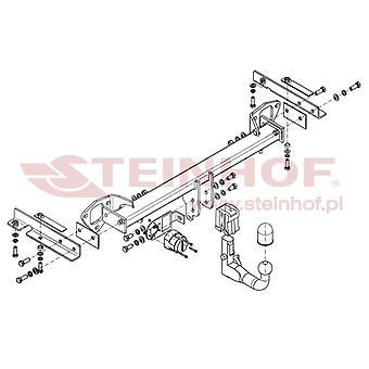 Steinhof Automatic Detachable Towbar (Vertical) for Subaru FORESTER 2008-2013